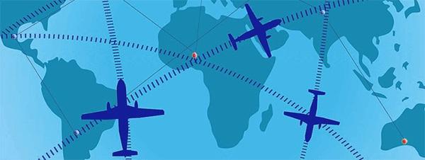 Карта перелетов