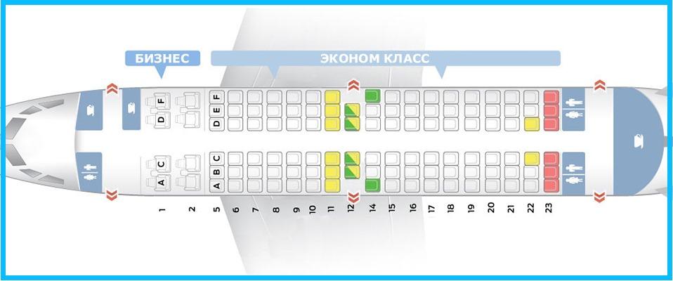 Лучшие места в Боинг 737-500