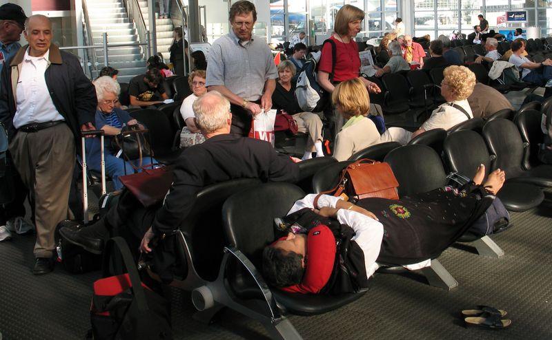 Ожидание самолета