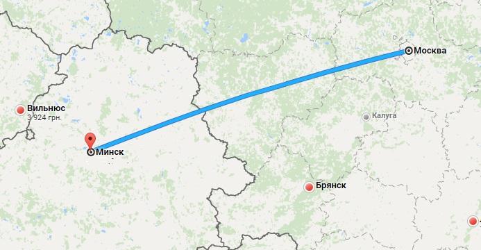 авиабилеты Москва — Беларусь