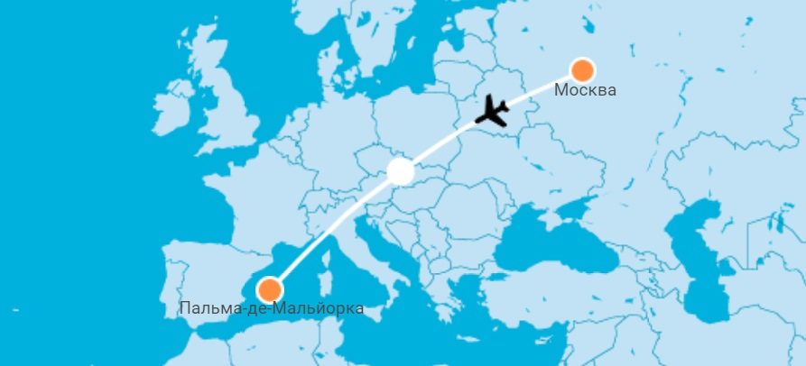 авиабилеты Москва — Пальм де Мальорка