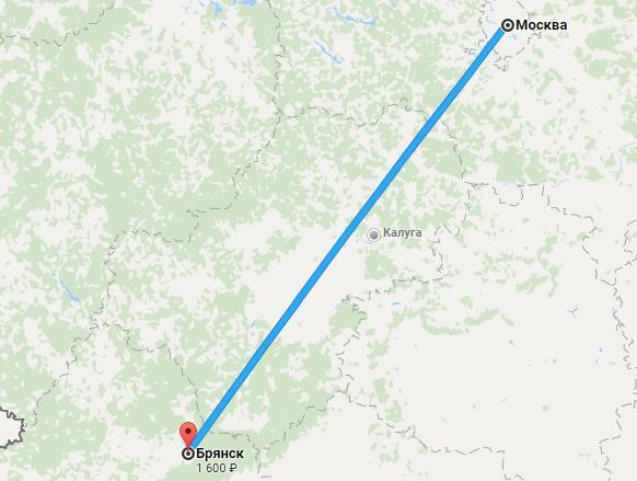 Авиабилеты Москва — Брянск