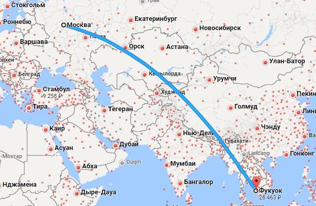 Авиабилеты Москва — Фукуок