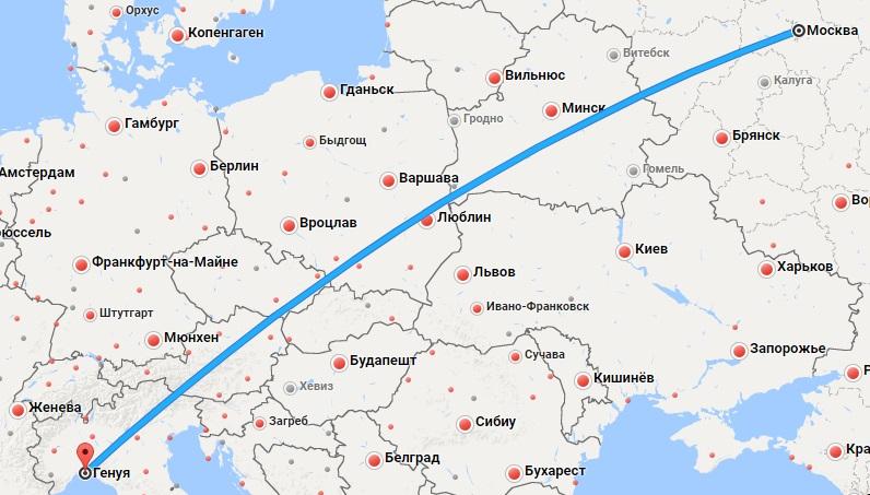 Авиабилеты Москва — Генуя