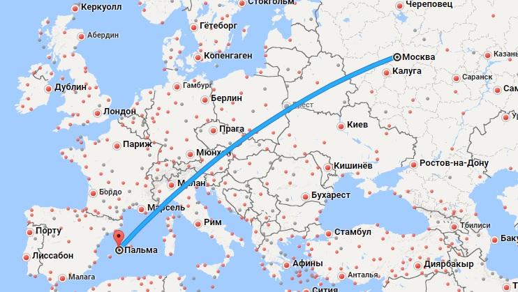 Авиабилеты Москва — Мальорка