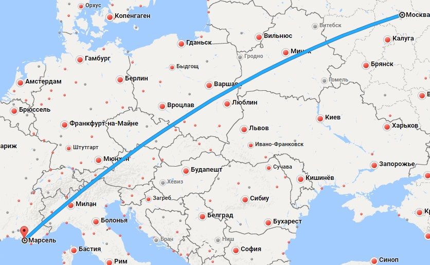 Авиабилеты Москва — Марсель
