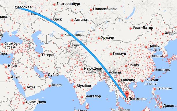 Авиабилеты Москва — Пномпень