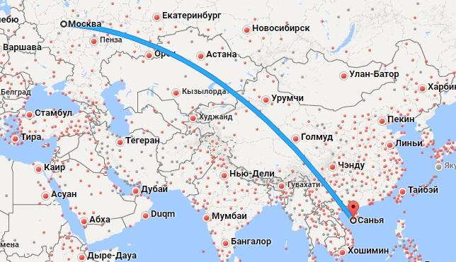 Авиабилеты Москва — Санья