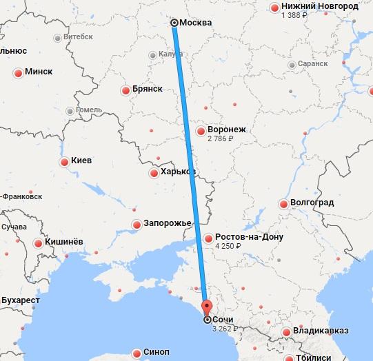Москва — Сочи