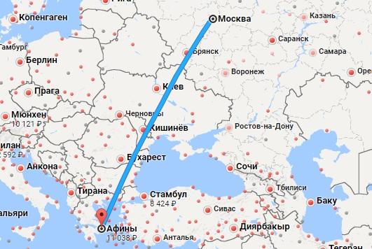 Авиабилеты Москва — Афины
