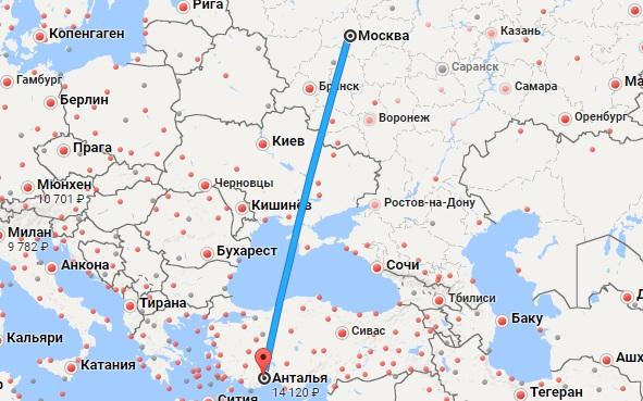 Авиабилеты Москва — Анталья