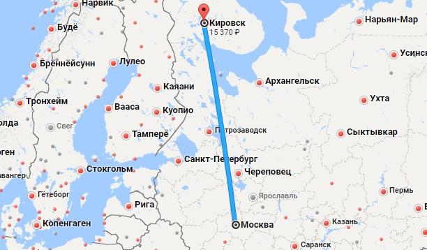 Авиабилеты Москва — Апатиты