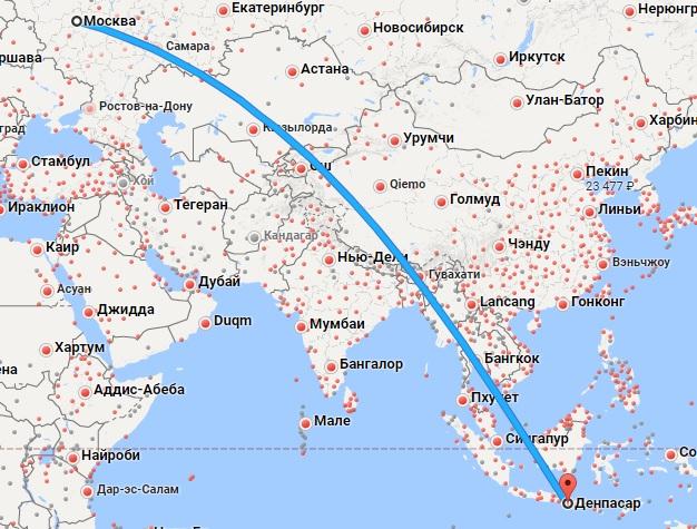 Авиабилеты Москва — Бали