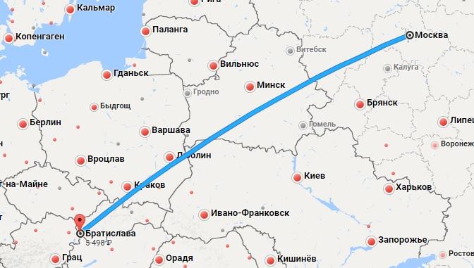 Авиабилеты Москва — Братислава