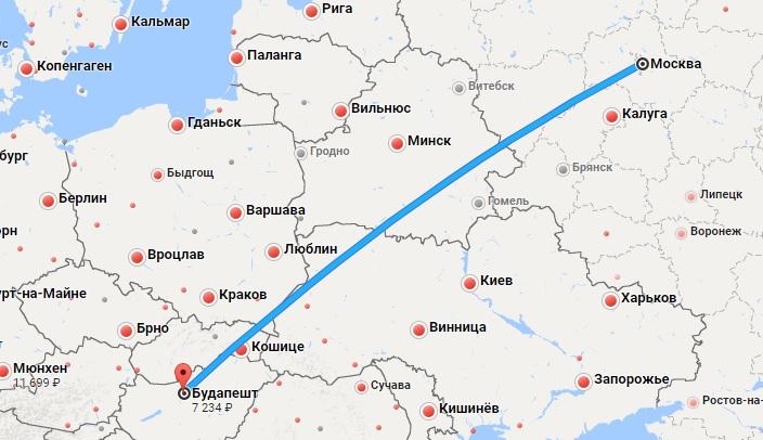 Авиабилеты Москва — Будапешт