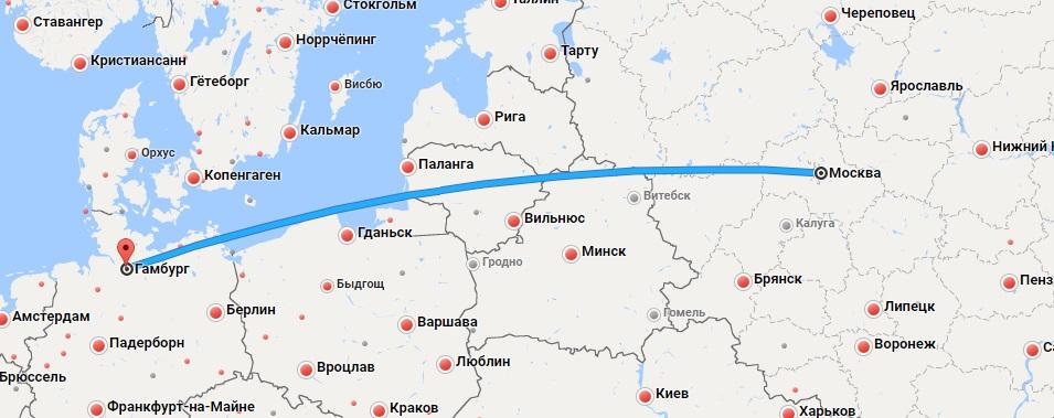 Авиабилеты Москва — Гамбург