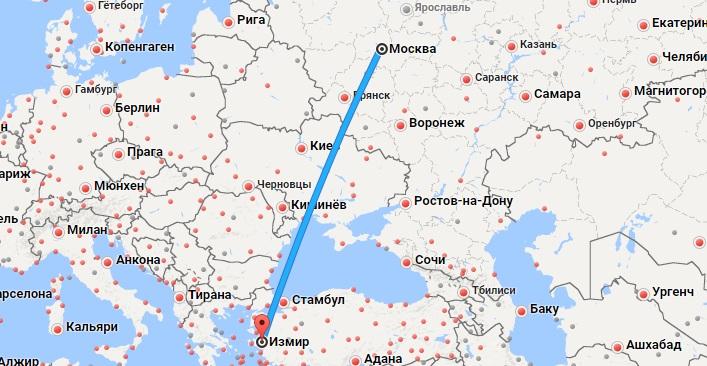 Авиабилеты Москва — Измир