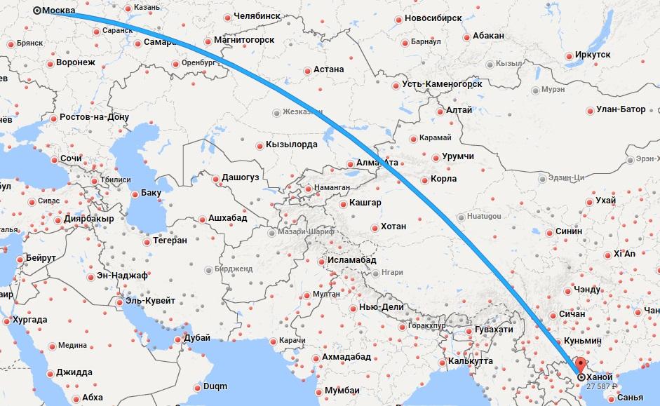 Авиабилеты Москва — Ханой