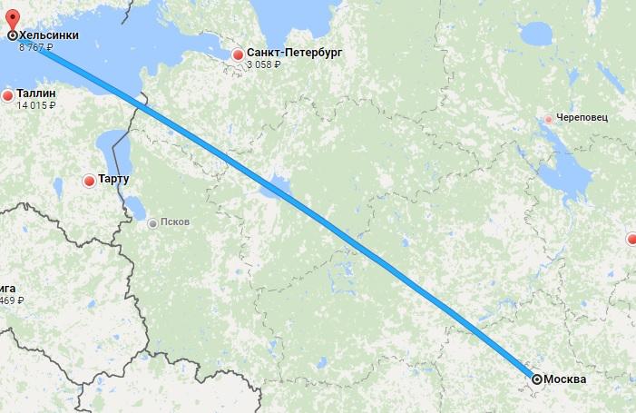 Авиабилеты Москва — Хельсинки