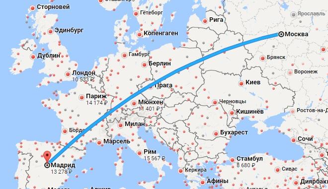Авиабилеты Москва — Мадрид