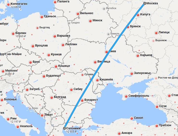Авиабилеты Москва — Салоники