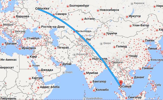 Авиабилеты Москва — Самуи