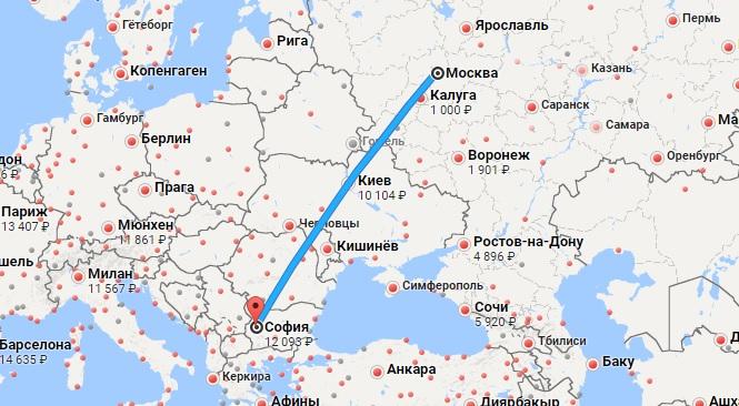 Авиабилеты Москва — София