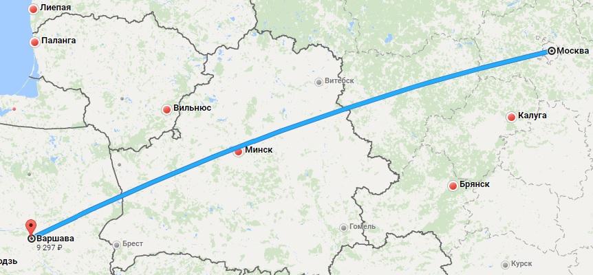 Авиабилеты Москва — Варшава