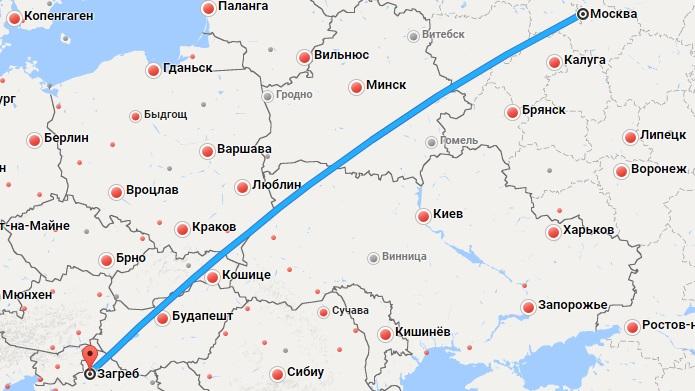 Авиабилеты Москва — Загреб
