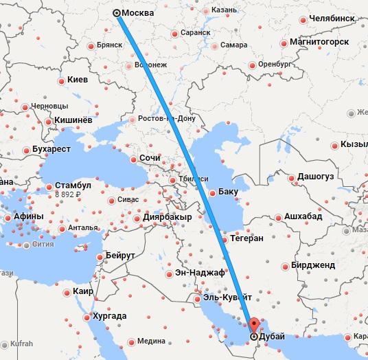 Авиабилеты Москва — Дубай