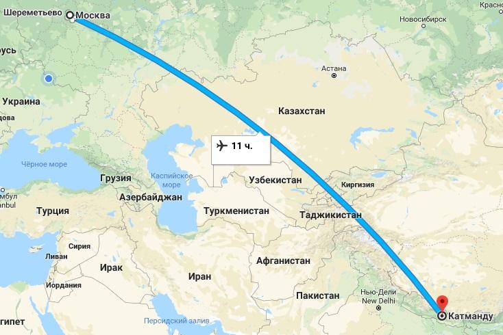 Авиабилеты Москва — Катманду