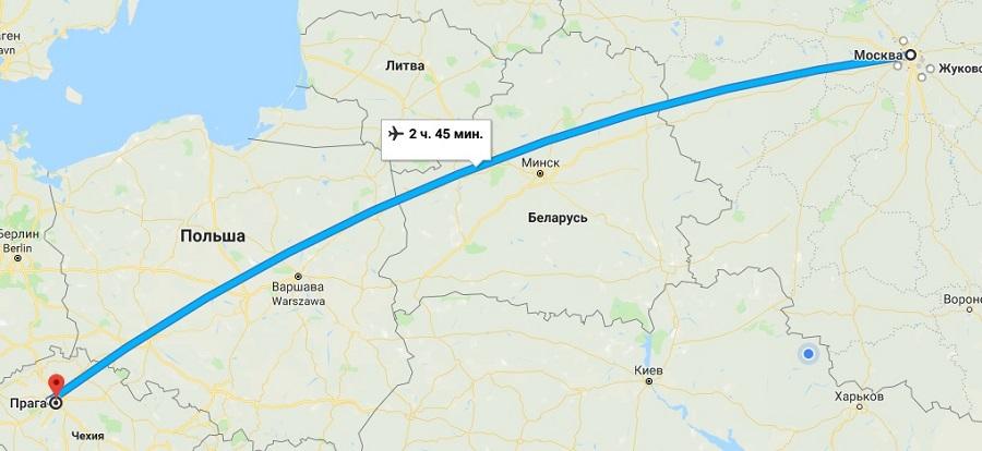 Авиабилеты Москва — Прага